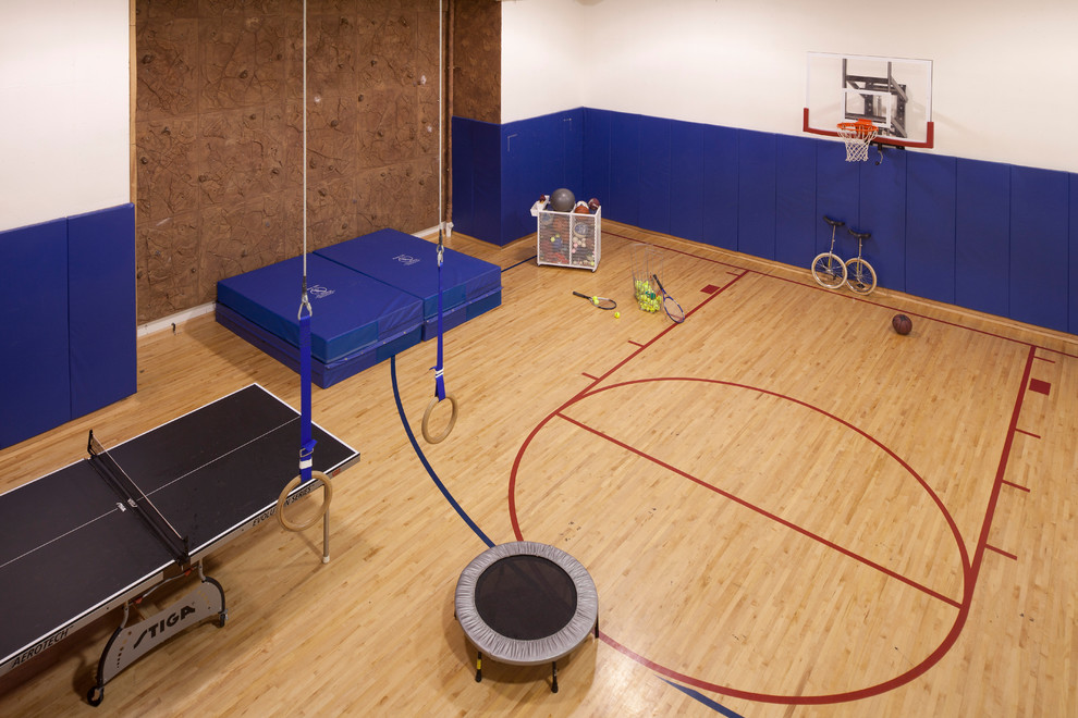 Half court gym is used for other fitness methods