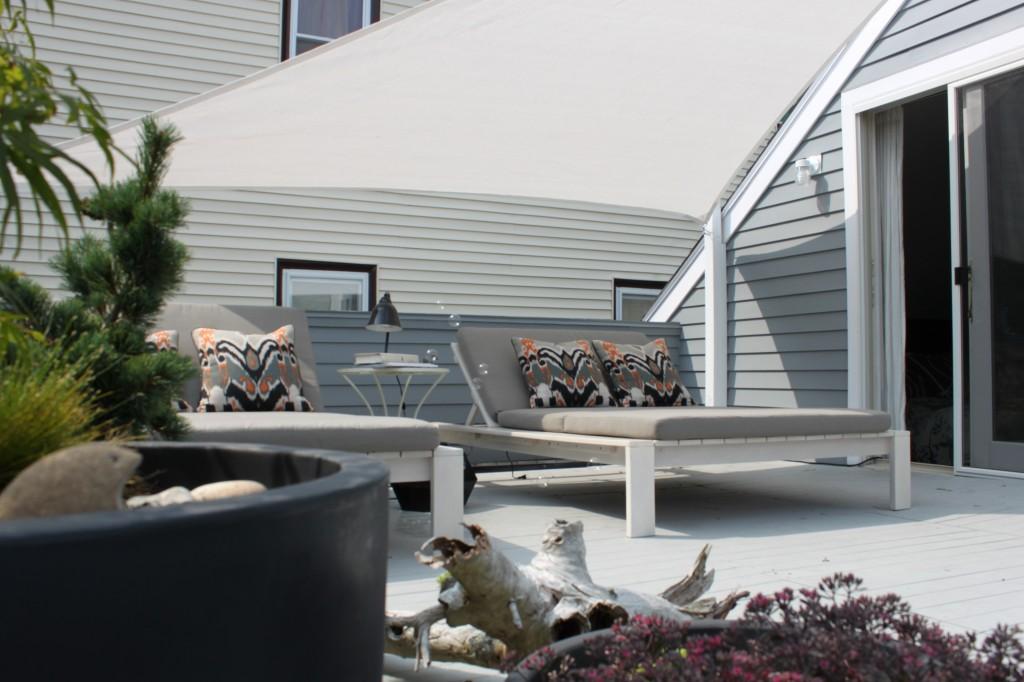 Neat roof garden design