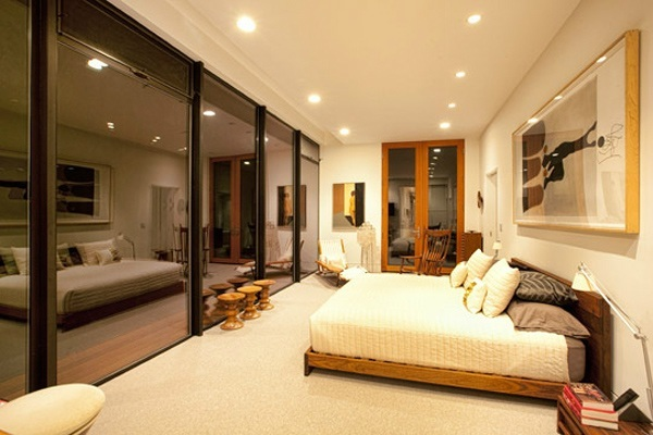 Bedroom with lights