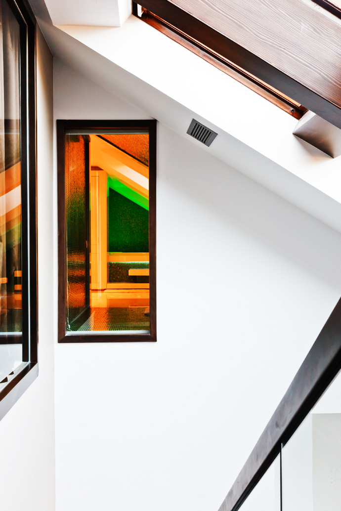 Interior with art work decor