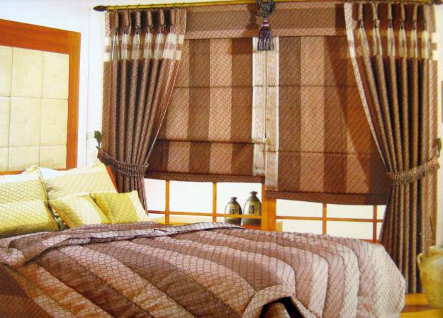 Beautiful window curtains and blinds