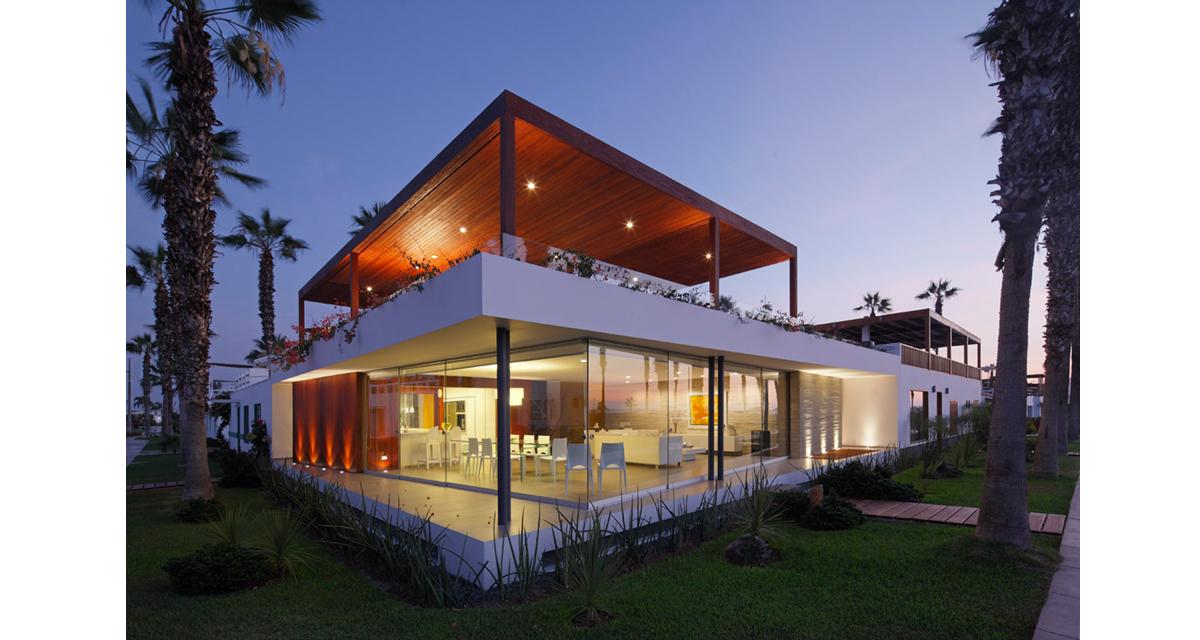 contemporary shaped home