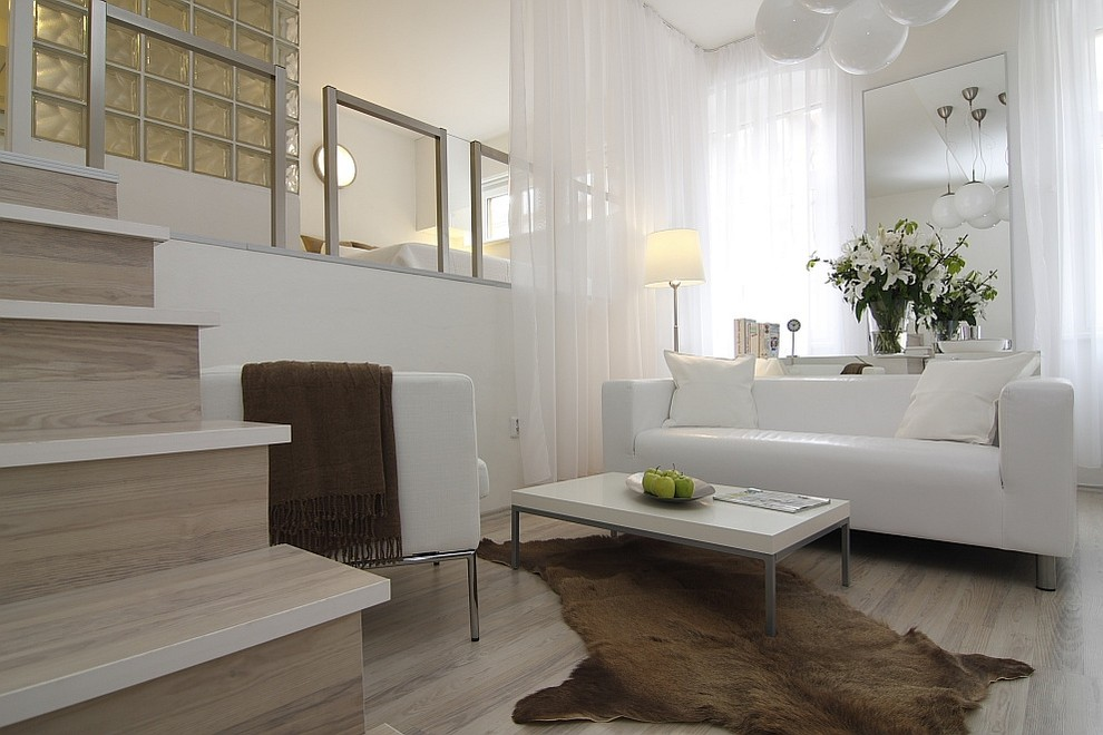 White,beige living room