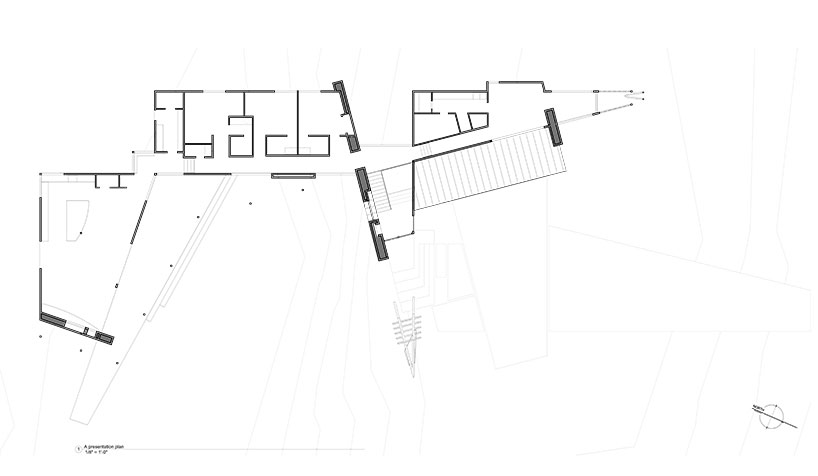 Sketch shows a rough drawing of the structure