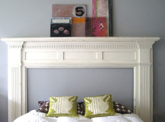 Painted second hand fireplace mantelpiece