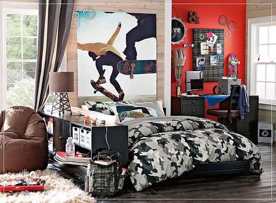 Teenage boy's bedroom
