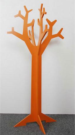 Orange coat stand