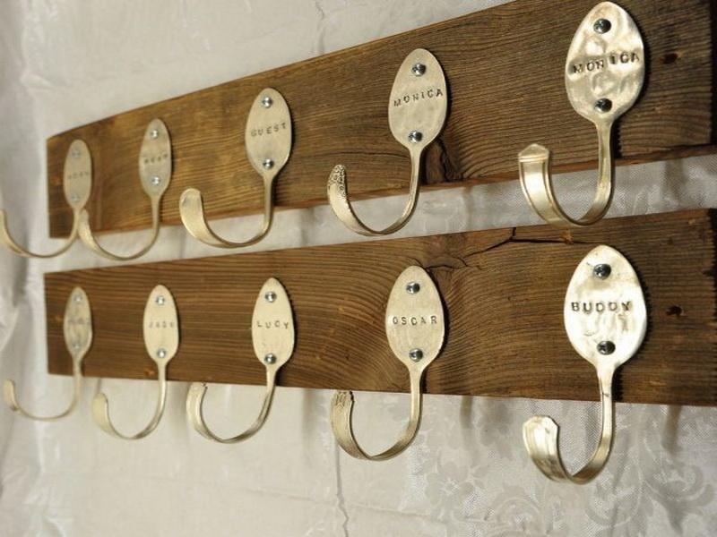 Coat racks with initials