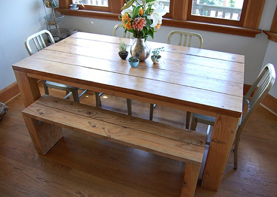 Rectangular picnic dining table