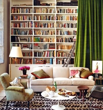 6.Living room with Library