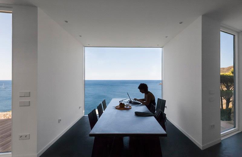 dining room by ocean views