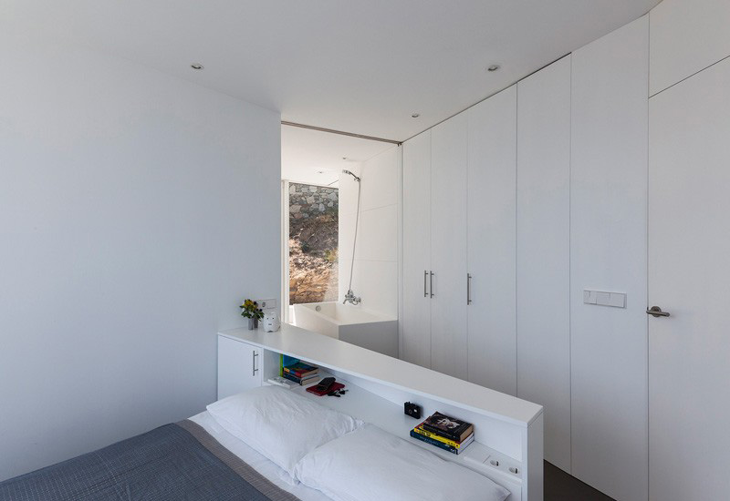 bedroom with built in wardrobes
