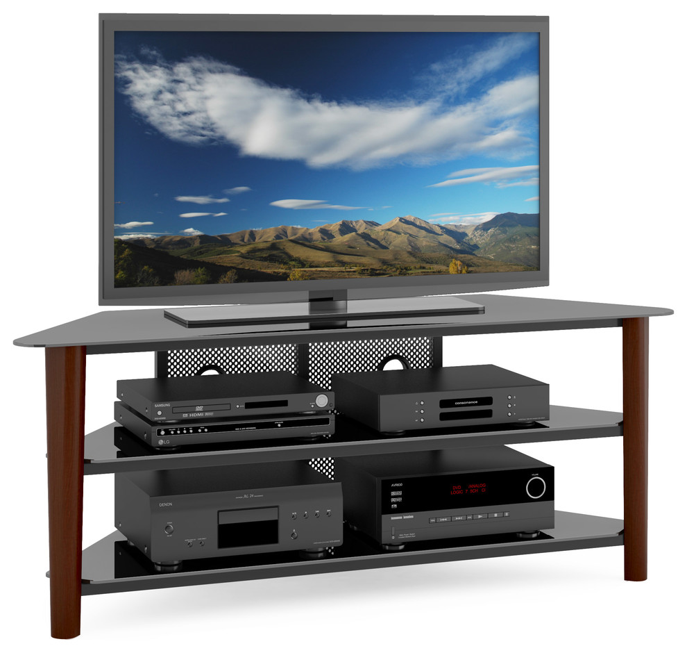 Contemporary entertainment center and TV stand