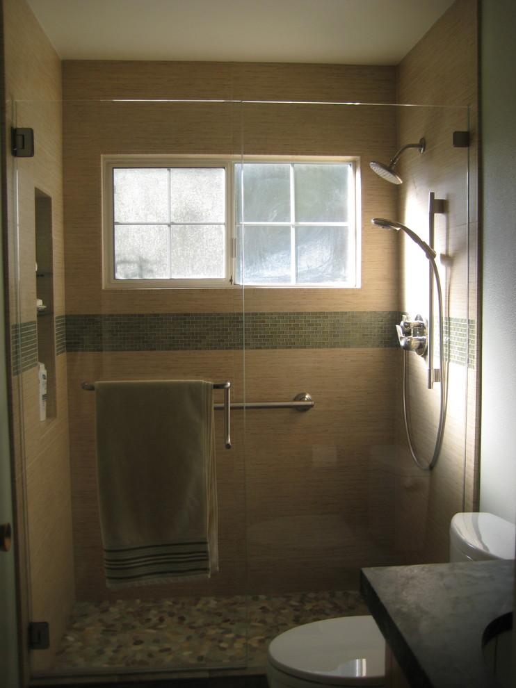 Bathroom with a window