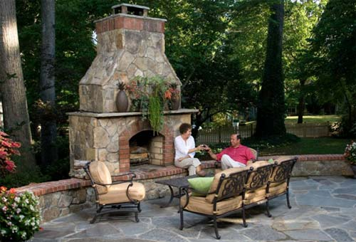 Outside Stone Fireplace Ideas: Outdoor Stone Fireplace Surrounds And Fireplace Designs
