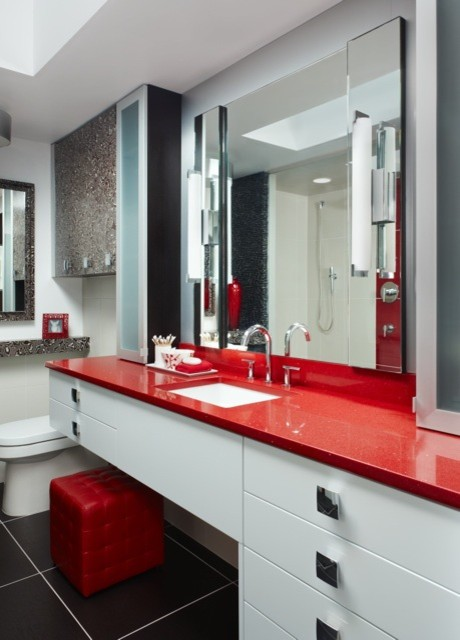 Red and black bathroom bathroom ideas for Bathroom ideas red and black