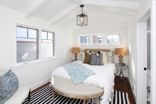 small narrow bedroom