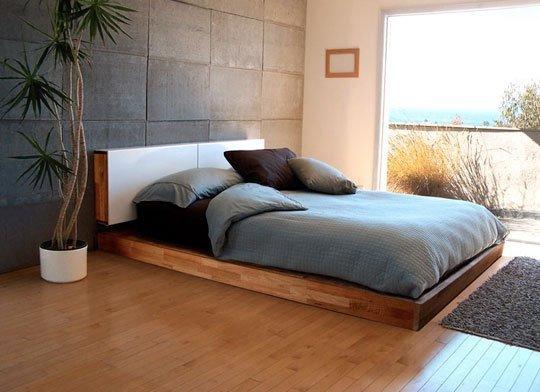 low platform bed