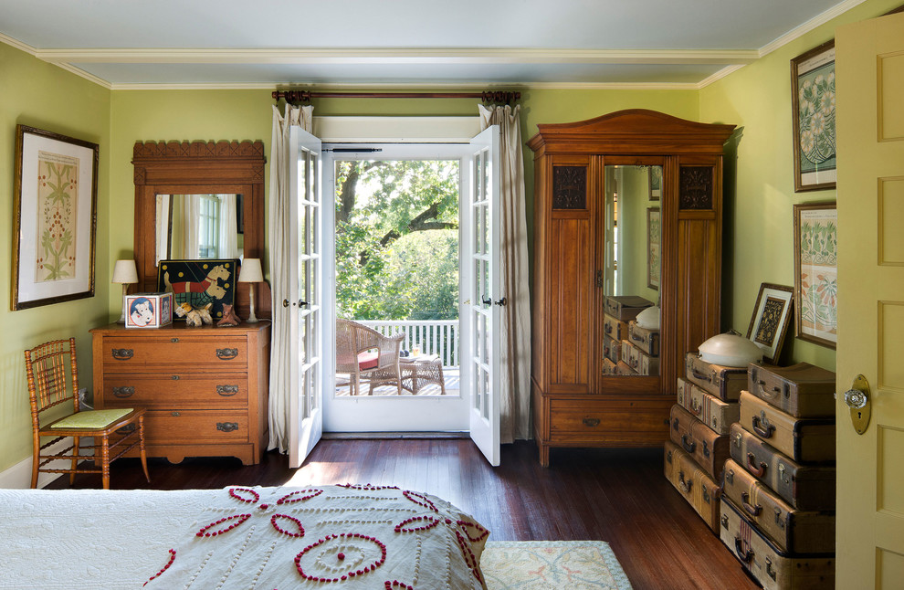 Double French doors with cabinets besides