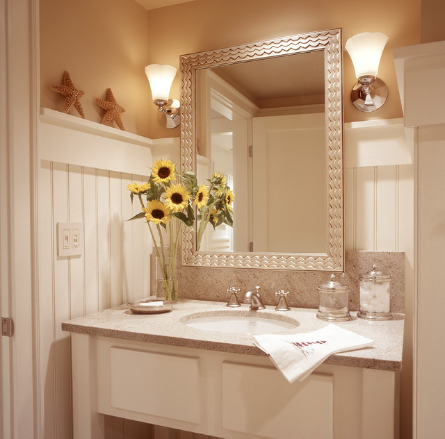 White beadboard for bathroom vanity ideas - Bathroom remodel ideas with wainscoting ...