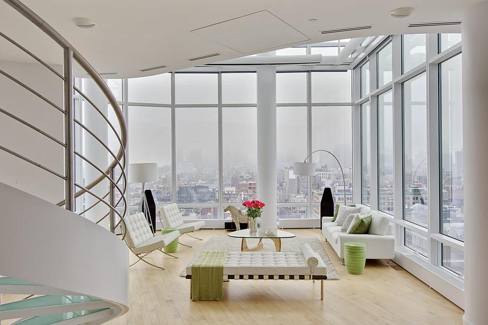Living room with pedestal sofa