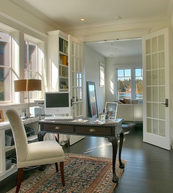 Home office with a period table