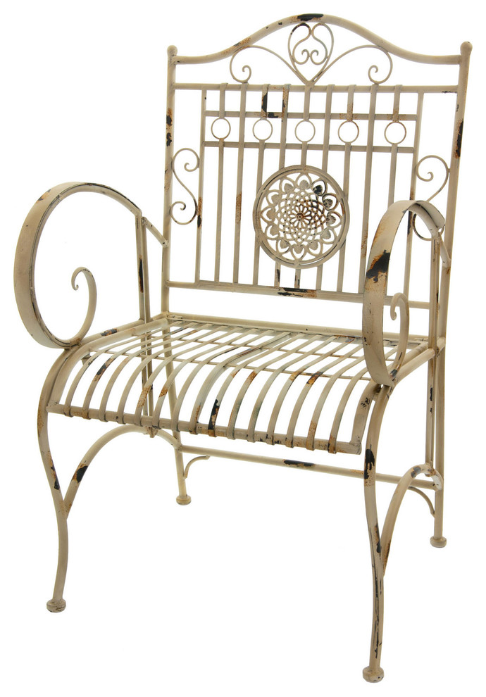 Armchair made from wrought iron