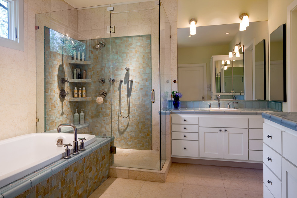 Modern shower room with storage