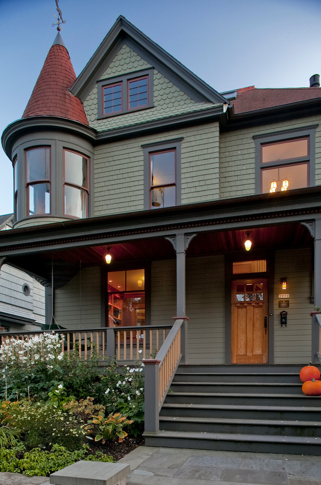 Victorian house exterior colour schemes and styles - Exterior white trim paint pict ...