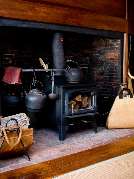 Kitchen with the iron wood stove