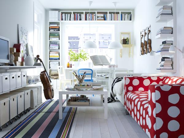 narrow living room