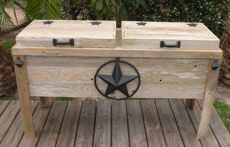 Unpainted wood chest