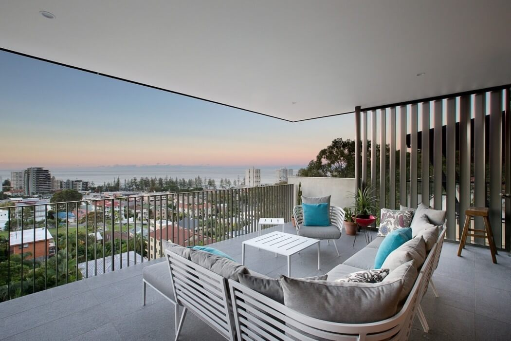 balcony with views