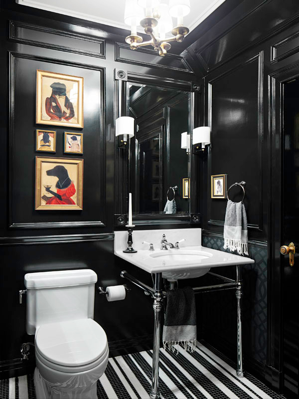 black themed bathroom