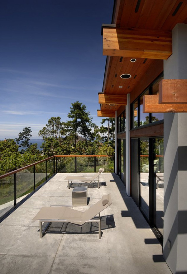 glass balcony area