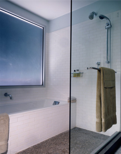 Soaking tub shower combination ideas for Wet area bathroom ideas
