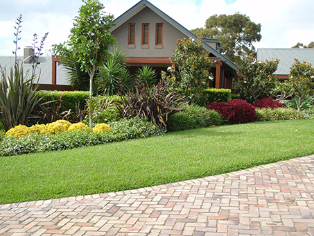 Brick Edged garden