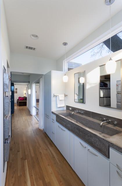 flat modern double sink