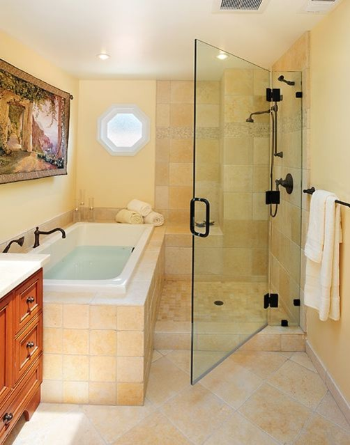 Soaking Tub Shower Combination Ideas