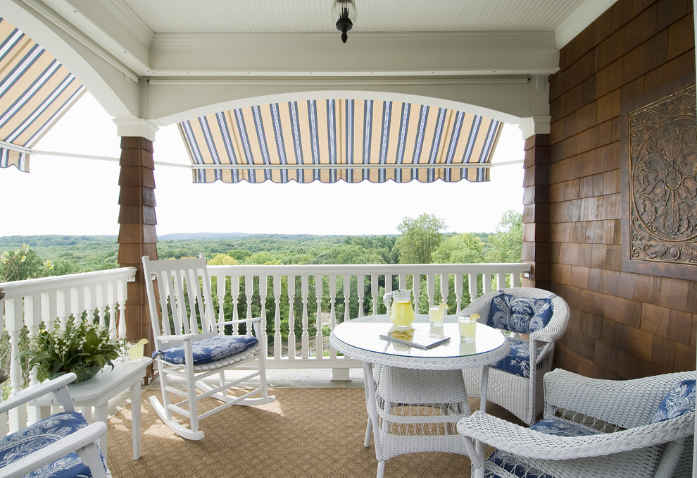 awning on porch