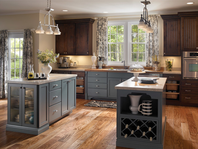 Three Kitchen Islands