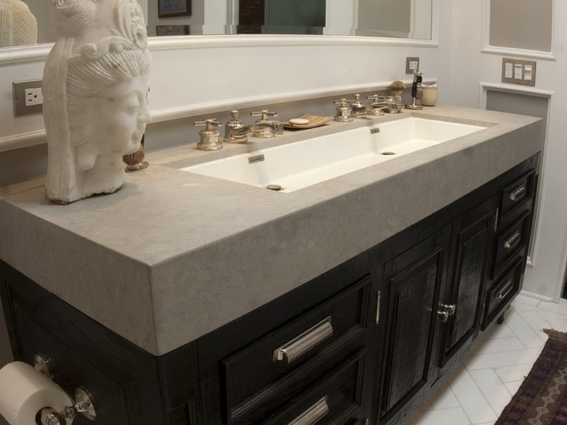 Used Bathroom Sinks : Attractive double sink designs for bathrooms