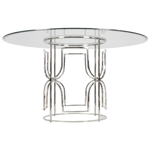 Contemporary glass dining table base ideas : Nickel Plated table base from www.faburous.com size 500 x 500 png 111kB