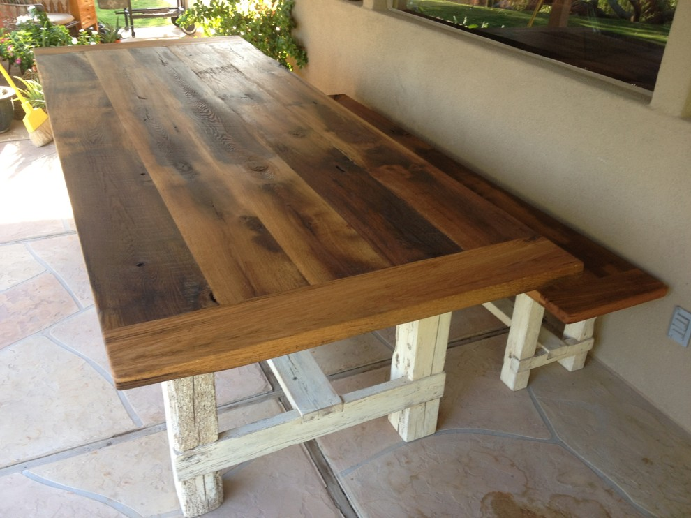 Farm Kitchen Table With Bench