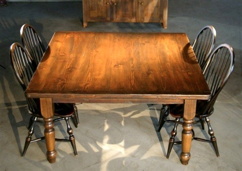 Square shaped dining table