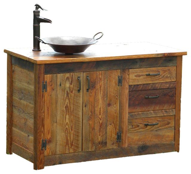 Wooden bathroom vanity design