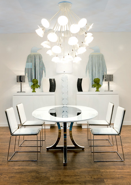 Modern art deco designed dining table and chairs