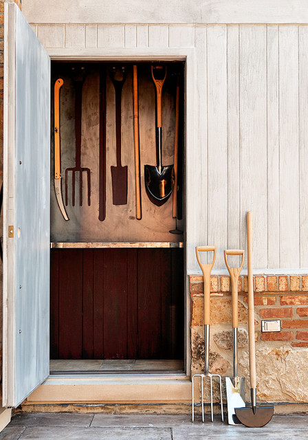 Clever tool shed design