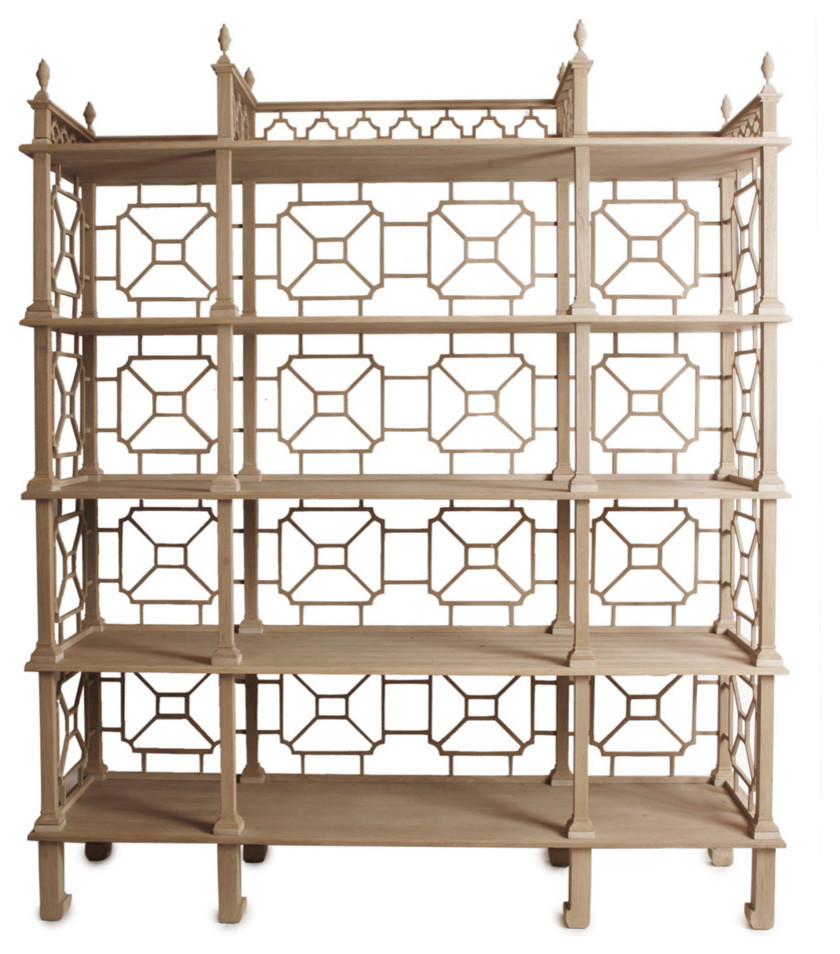 Teak chinese lattice motif