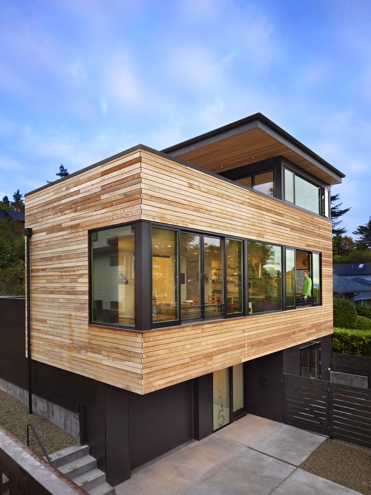 Wooden house structure